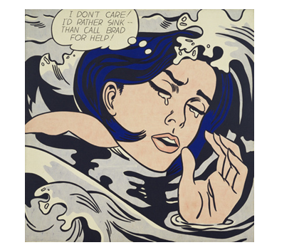 Roy Lichtenstein Drowning Girl, 1963, Oil Museum of Modern Art, New York, NY