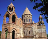 Figure 6: Etchmiadzin Cathedral  Figure 7: Grounds of Etchmiadzin Cathedral