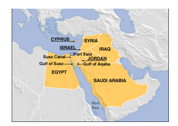 The Suez Canal Location