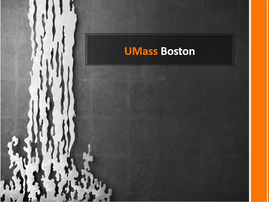 UMass Boston, Power Point Presentation With Speaker Notes Example