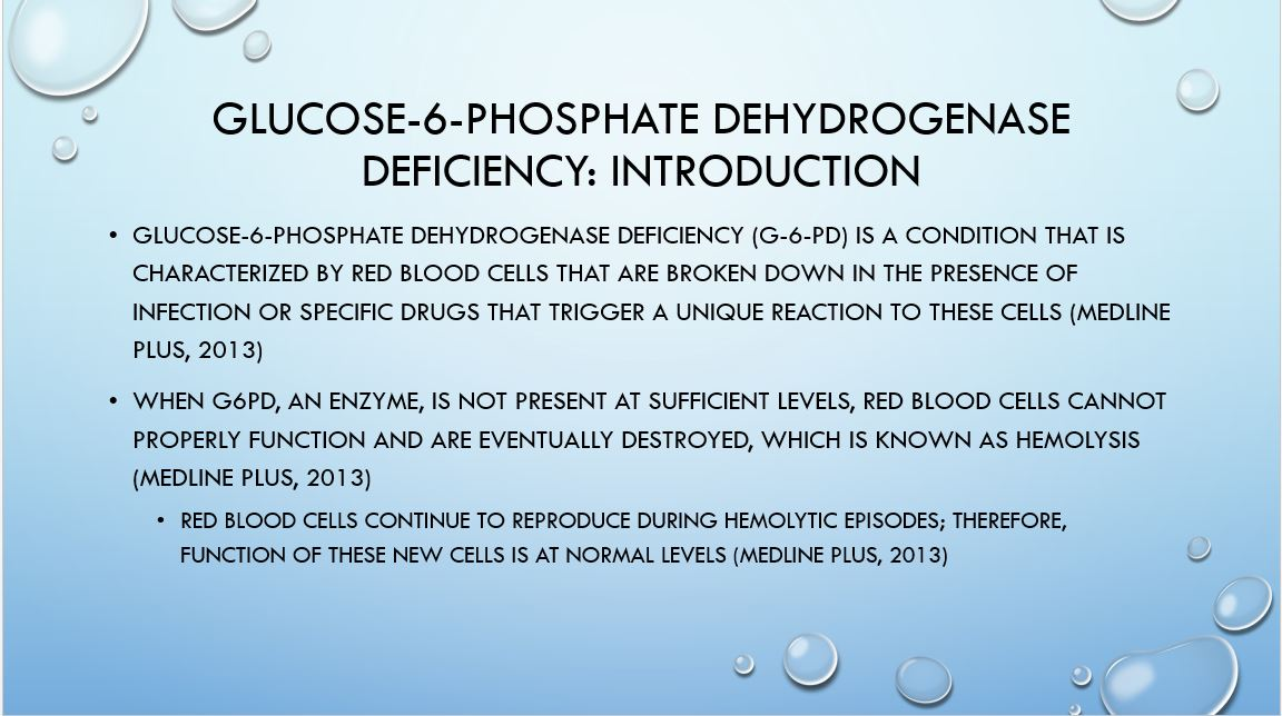 Phosphate Dehydrogenase Deficiency, Power Point Presentation With Speaker Notes Example