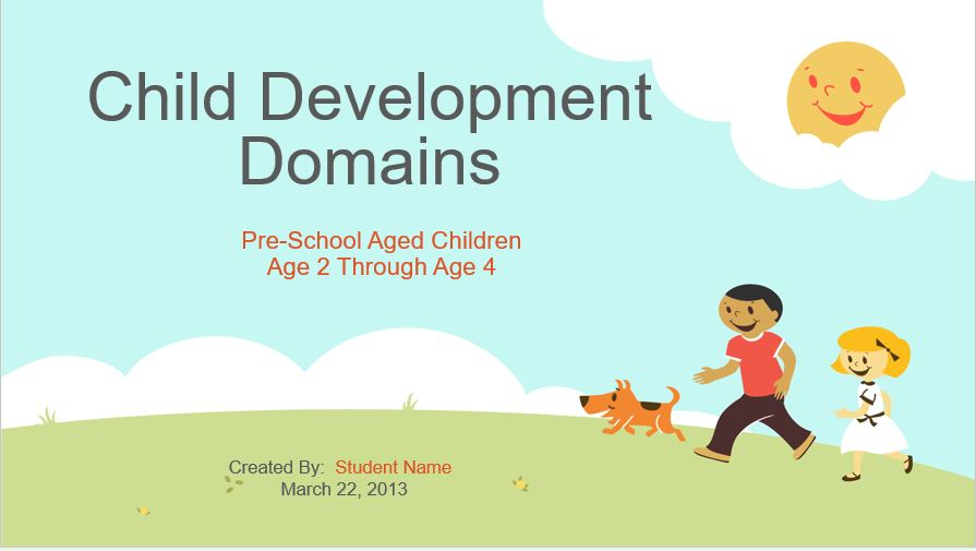 Portfolio Child Development Project, Power Point Presentation With Speaker Notes Example