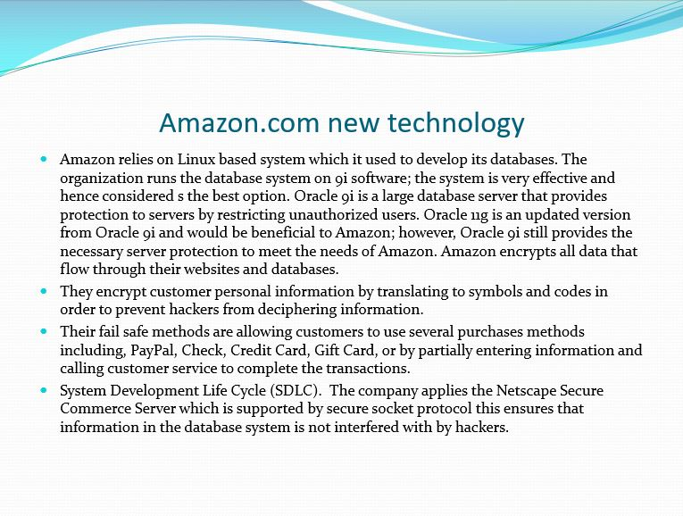Amazon: Information Security and SDLC, Power Point Presentation With Speaker Notes Example