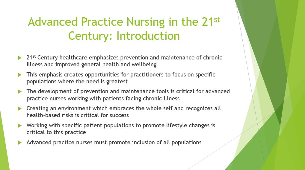 Advanced Practice Nursing in the 21st Century, Power Point Presentation With Speaker Notes Example