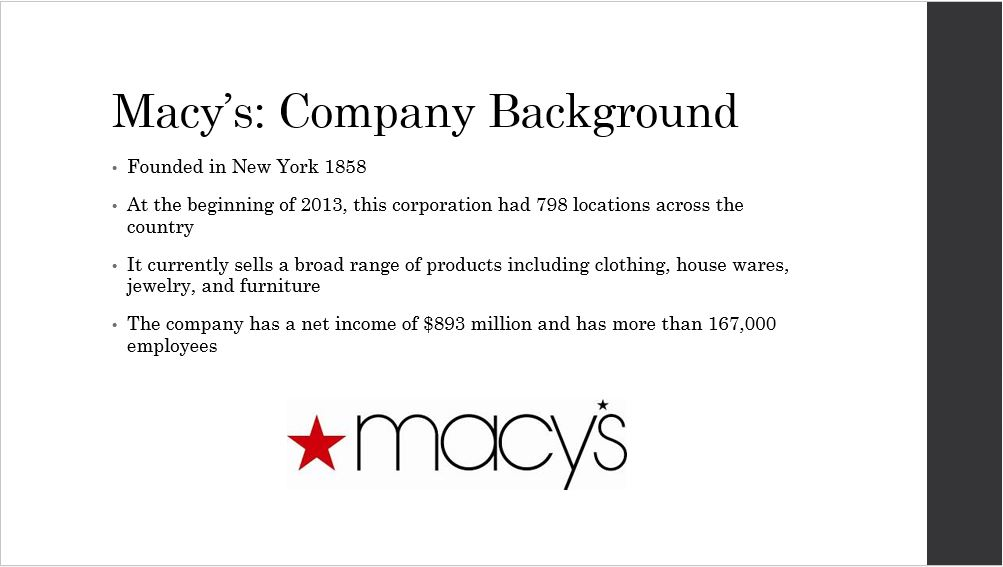 Macy's Supply Chain, Power Point Presentation With Speaker Notes Example