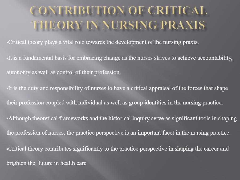 Philosophy of Science: Critical Theory, Power Point Presentation Example