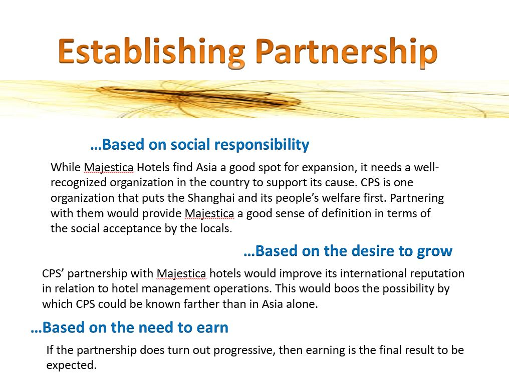 Majestica and CPS, Power Point Presentation Example