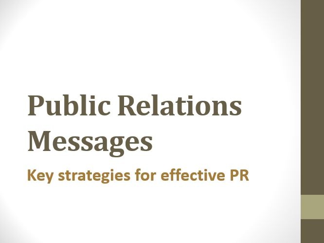 Key strategies for effective PR
