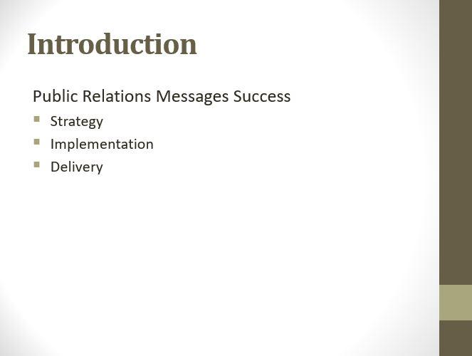 Public Relations Messages