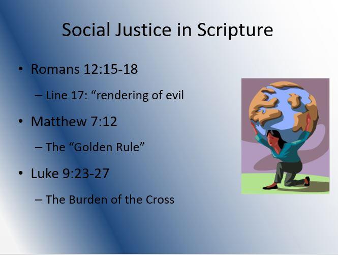 Social Justice in Scripture