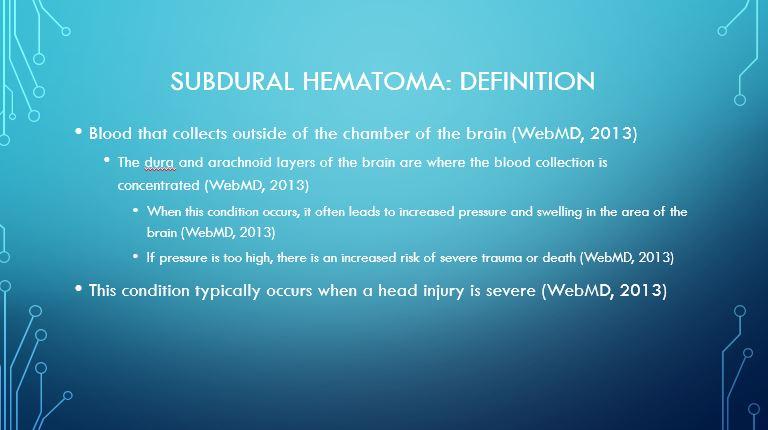 Subdural hematoma Definition