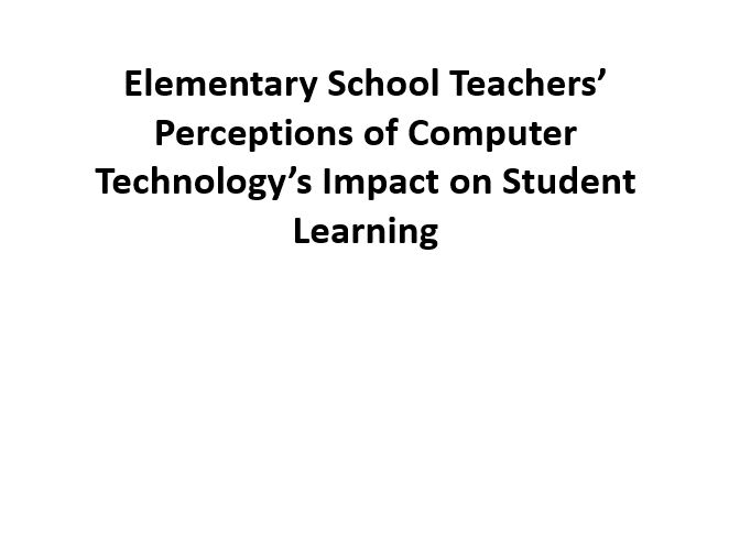Technology's Impact on Student Learning