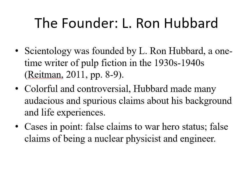 The Founder: L. Ron Hubbard