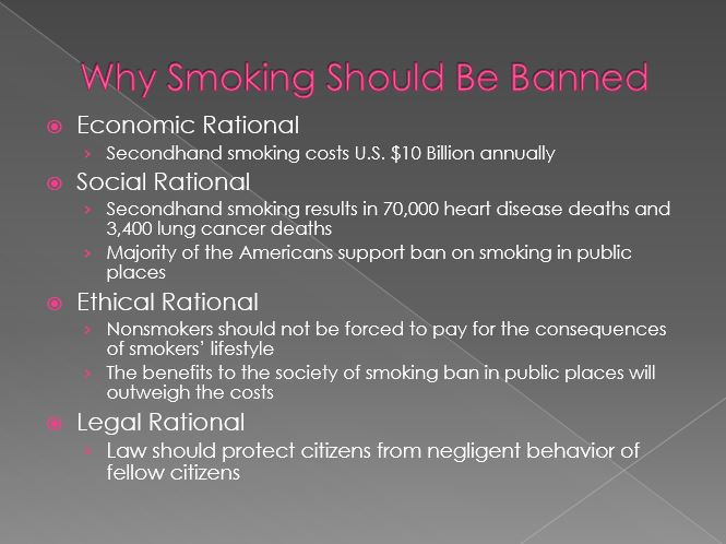 Why Smoking Should Be Banned
