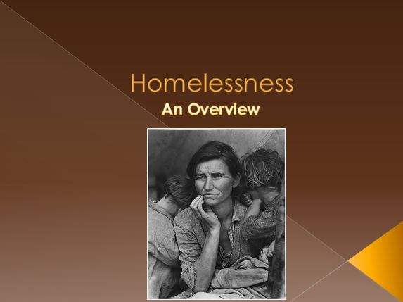 A Look at Homelessness