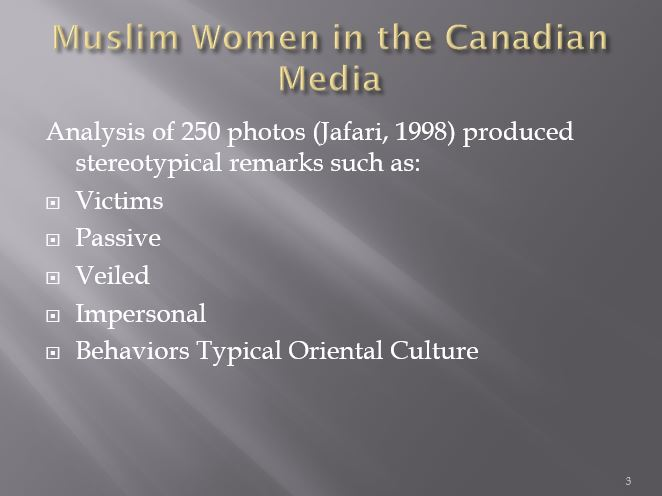 Muslim Women in the Canadian Media