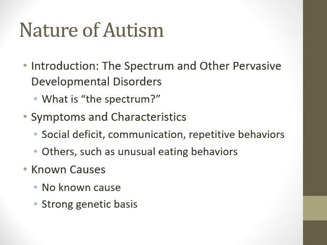 Nature of Autism