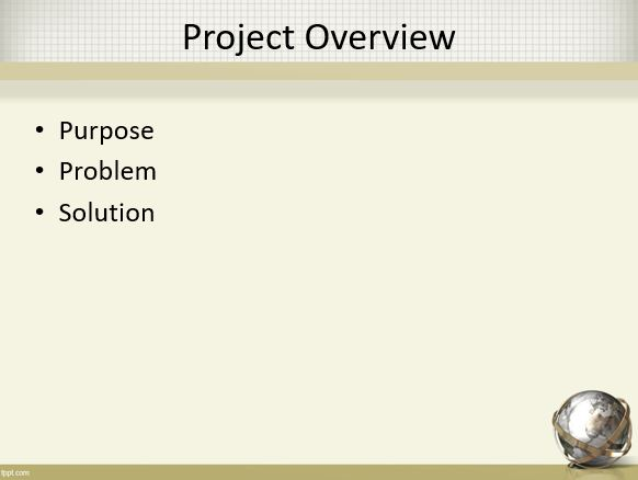 Project Overview 1