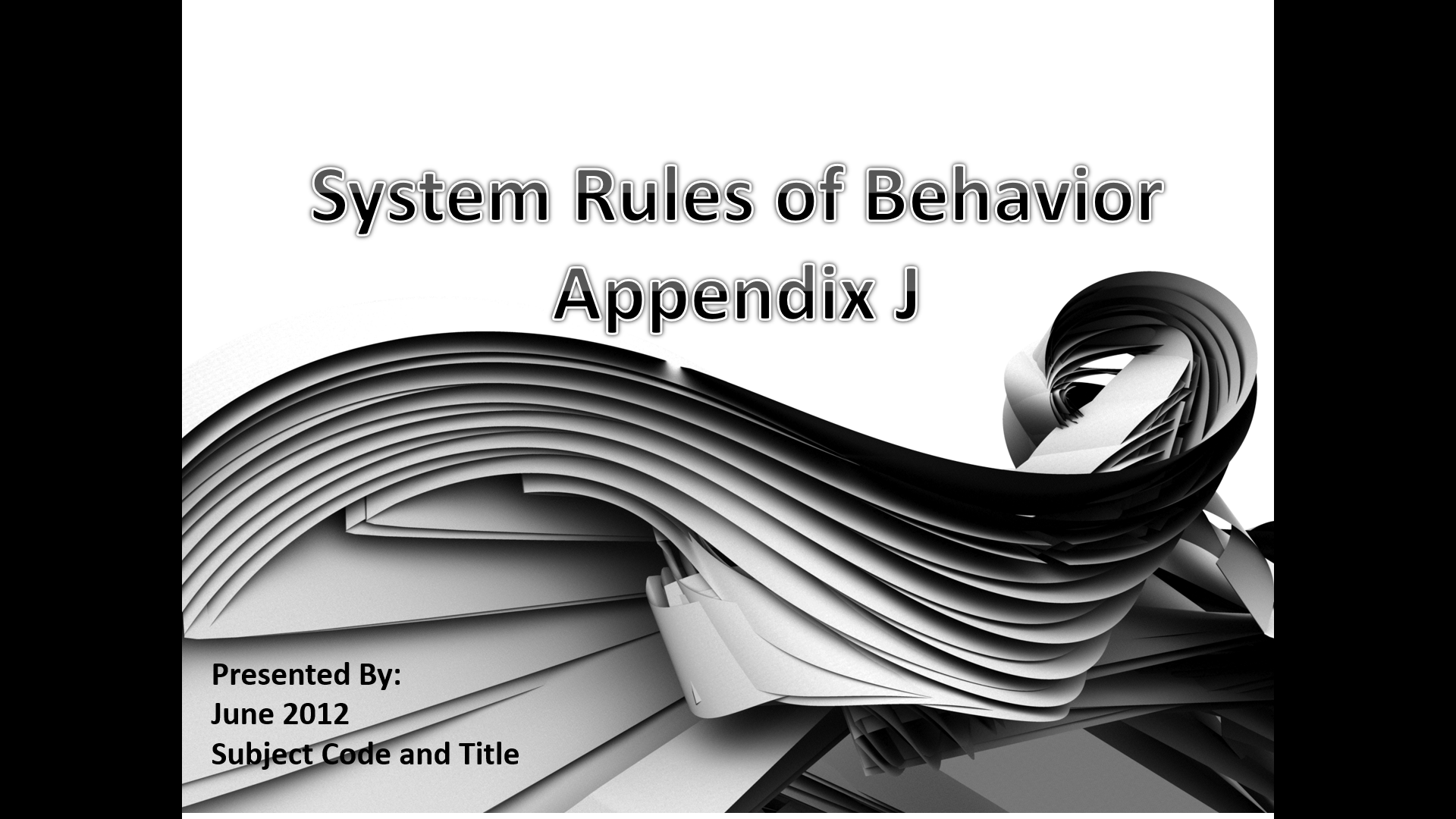 System Rules of Behavior, Power Point Presentation With Speaker Notes Example