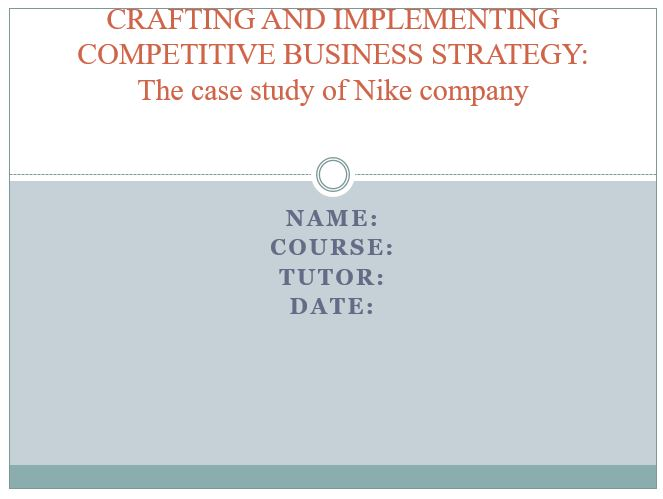 The case study of Nike company