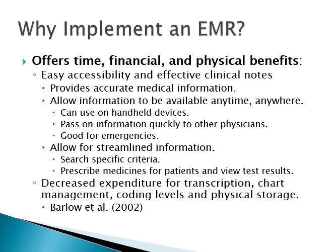 Why Implement an EMR