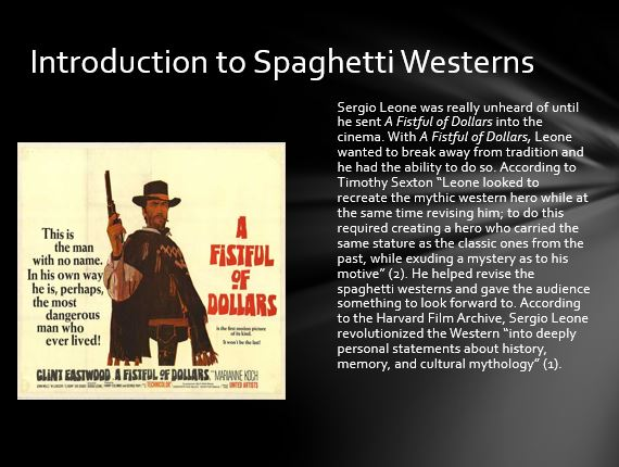 Introduction to Spaghetti Westerns