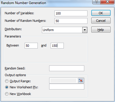 dialog box FOR Random number generating